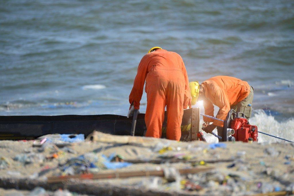 Hazard waste dump at sea