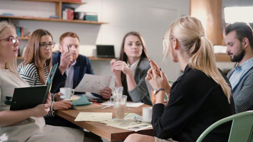 having a meeting