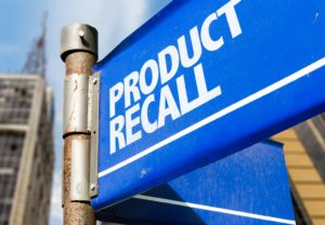 product recall sign