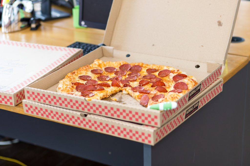 pizza in a box